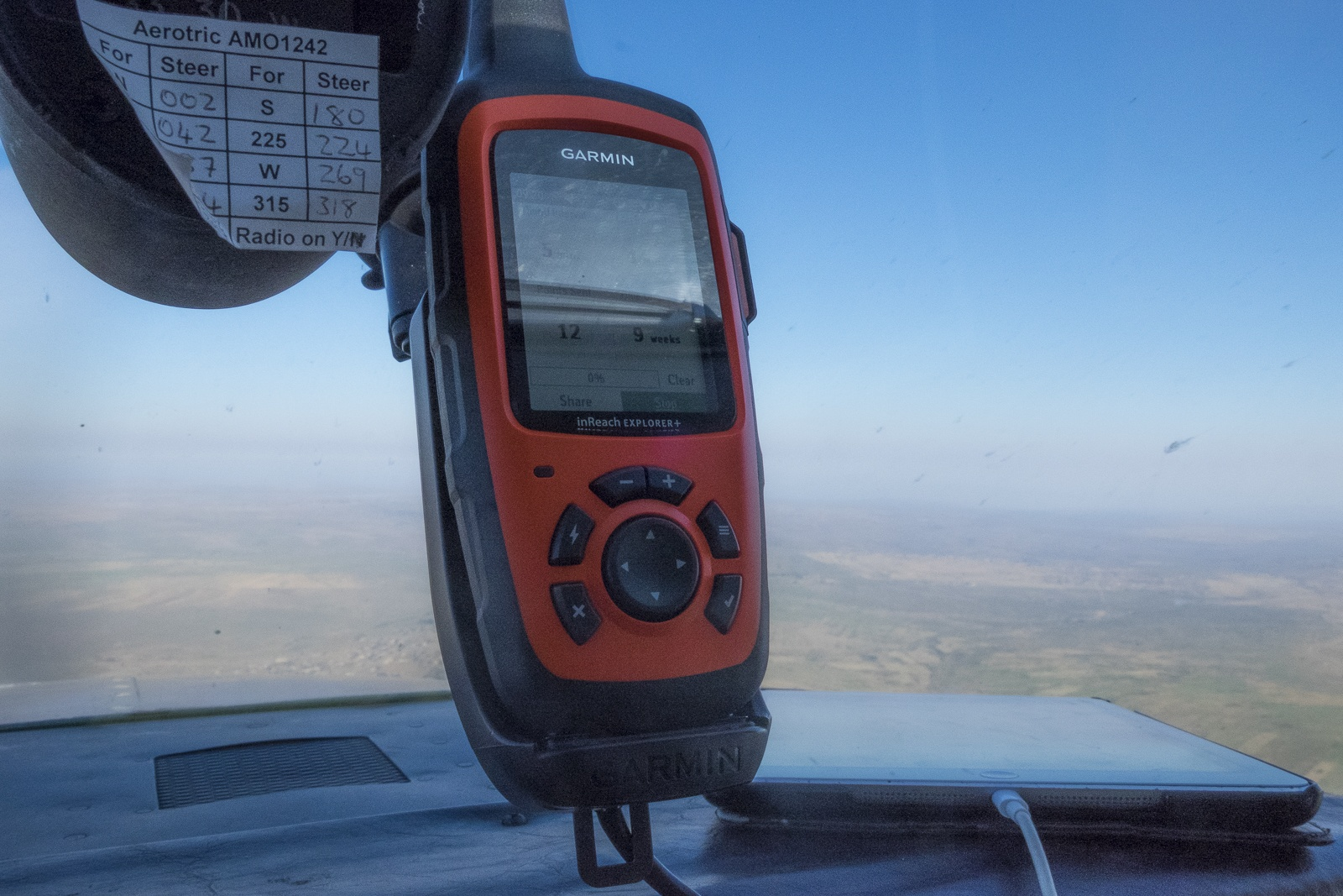 Satellite tracking during our Flying Safari